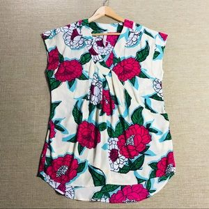 Melissa McCarthy Seven 7 Floral Sleeveless Top S